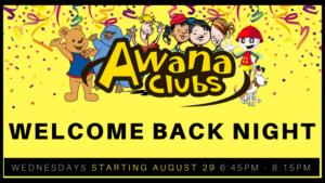 AWANA WELCOME BACK NIGHT
